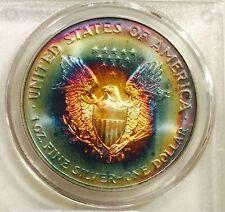 1997 American Silver Eagle PCGS MS67 Super Gem/Colorful Tone - RAINBOW