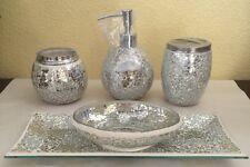 West Lane Home Glass Mosaic 5PC Bathroom Accessory Set