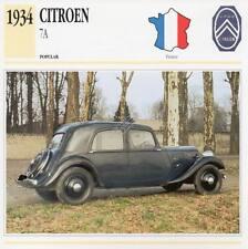 1934 CITROEN 7A Classic Car Photograph / Information Maxi Card