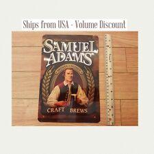 Sam Adams Beer Sign Sam Adams Logo Tin Sign Metal Samuel Adams Man Cave Garage
