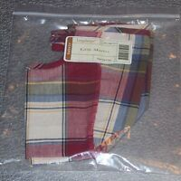 Longaberger Paprika Plaid LITTLE MARKET Basket Liner ~ Brand New in Bag!
