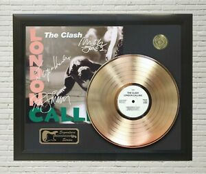 """The Clash Framed LP Record Reproduction Signature Display  """"M4"""""""