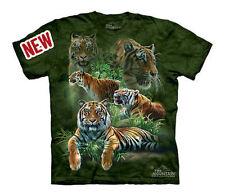The Mountain Jungle Tigers Medium Bengal Big Wild Cats Collage Shirt Child L