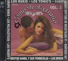 Los Bukis Los Yonics Sabu Como Te Extrano Vol 2  2CD New Sealed