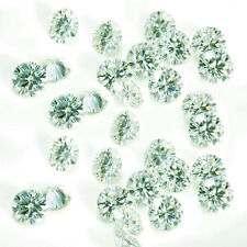 2.88ct VVS1-12pc/4.10-4.30mm ICE WHITE COLOR LOOSE ROUND MOISSANITE LOT 4 RING