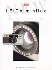Genuino Original Leica folleto de información del producto para cámara de película Minilux