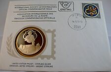 BABENBERG EXHIBITION, AUSTRIA, Postmasters STERLING SILVER COIN, FIRST DAY COVER