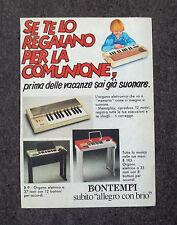 F312-Advertising Pubblicità- 1975 - BONTEMPI ORGANO ELETTRONICO A MEMORIA