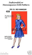 4359 Fashiondol Dress Doll Pattern Fashion Mannequin Navy Nautical Vintage
