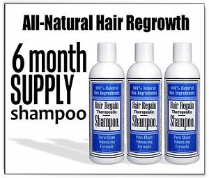 Hair Growth 3 REGAIN SHAMPOO loss alopecia dht regrowth & no bad side effects