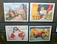 "MONACO 1980 ""PITTORI ARTE KING"" SERIE NUOVI MNH** SET (CAT.A)"