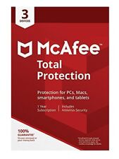 McAfee Total Protection 2019 One Year Subscription Key Card Free Upgrade to 2020