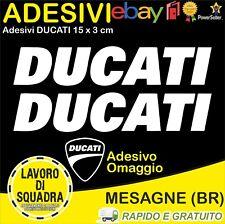 2 Adesivi Sticker DUCATI serbatoio 916 996 998 999 748 S PANIGALE FACTORY BIANCO