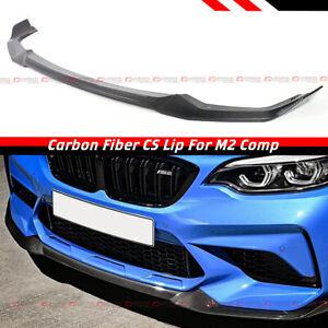 For 19-21 BMW F87 M2 Competition CS Style Carbon Fiber Front Bumper Lip Splitter