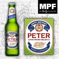 Personalised Birthday Beer/Lager Bottle Labels (Italian Style)