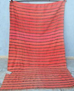 Moroccan berber woollen blanket couverture 284 x 174cm  9ft4 x 5ft9