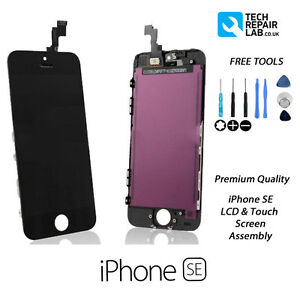 NEW iPhone SE Premium Quality Retina LCD & Digitiser Touch Screen Assembly BLACK