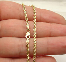 """10""""  2.50mm Twisted Rope Chain Ankle Bracelet Anklet Real 10K Yellow Gold"""
