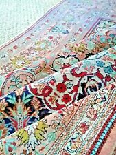 1970s EXQUISITE Fine Masterpiece Silk oriental square rug 4x4