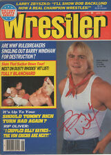 Eb744 Barry Windham signed Wrestling Magazine w/Coa