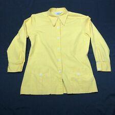 Vintage Koret of California Koratron Button Down Shirt Womens One Size Yellow