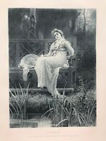 A REVERIE after Marcus Stone c1885 for Art Journal original early fac-simile