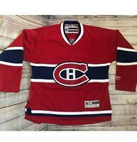 REEBOK NHL Official Licensed Hockey Jersey Canadiens Montreal Go Habs Go Medium