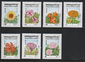 Cambodia   1983   Sc # 434-40   Flowers   MNH   (1103)