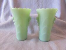 Vintage 50's McKee/FireKing Jadeite Vases (2)