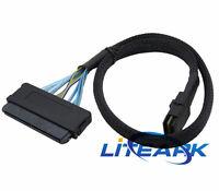 Mini SAS SFF-8087 36 Pin to SFF-8484 sas 32 Pin Data Cable Latch Cable 1M