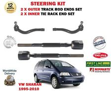 FOR VW SHARAN 1995-2010 NEW 2x OUTER & 2x INNER STEERING TRACK RACK TIE ROD ENDS