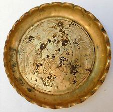 Vintage brass picture ashtray Monkey leading a Camel desert Egypt Ottoman turban