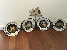 """""""When Pigs Can Fly� Wire Plate Rack With Four 8� Different Display Plates"""