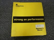 Lorain MC790 Truck Mounted Lattice Boom Crane Owner Operator Maintenance Manual
