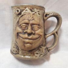 Vintage Jim Rumph Cross eyed Ogre Troll Ugly Face Tankard Mug Frog Troll Inside