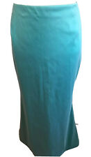 Talbot Runhof Taffeta Fit & Flare Aqua Light Blue Green Long Formal Skirt Sz 12
