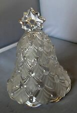Mikasa Christmas Tree Bell Winter Dreams Satin frosted/pressed glass EUC