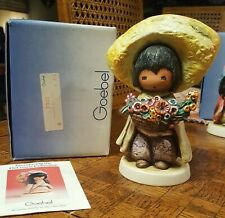 Goebel Children of De Grazia  The Flower Boy  7302 Figurine Signed