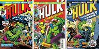 MARVEL Incredible Hulk #180 181 182 Comic Book Set 1st Wolverine Facsimile NM