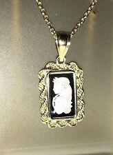 PLATINUM ~1~GR ~ LADY FORTUNA ~ PAMP SUISSE ~ 14~KT GOLD ROPE PENDANT ~ $174.88