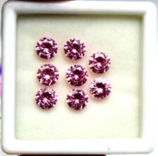 12.10Ct EGL Certified Natural Shiny Round Cut Pink Sapphire Loose Gems Lot 8Pcs