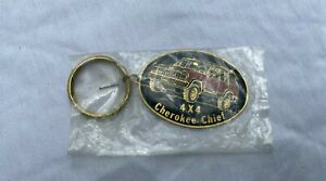 vintage metal jeep cherokee key chain made in USA