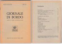 GIORNALE DI BORDO MENSILE DI STORIA LETTERATURA ARTE ANNO I N.1 OTTOBRE 1967