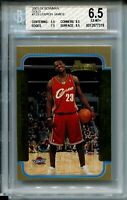 2003 Bowman Basketball GOLD 123 Lebron James Rookie Card Graded BGS Ex Mint+ 6