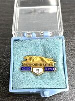 Greyhound Lines Bus 10k Gold Dog Logo 5 Years Service Award Pin. Free Shipping