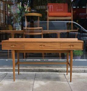 A vintage 1960s Robert Heritage 'Hamilton' Mahogany console/desk table