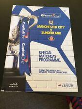 Manchester City V Sunderland 2014 League Cup Final Wembley Soccer Programme