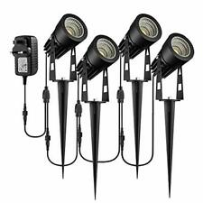 Garden Spotlights Mains Powered, B-right 4-in-1 Extendable LED Spike Lights with