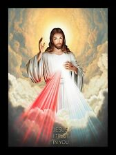 More details for divine mercy jesus christ picture framed