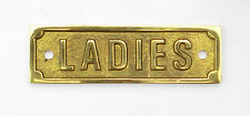 "4"" Solid Brass LADIES door sign – WC changing room, toilet, washroom, lavatory"